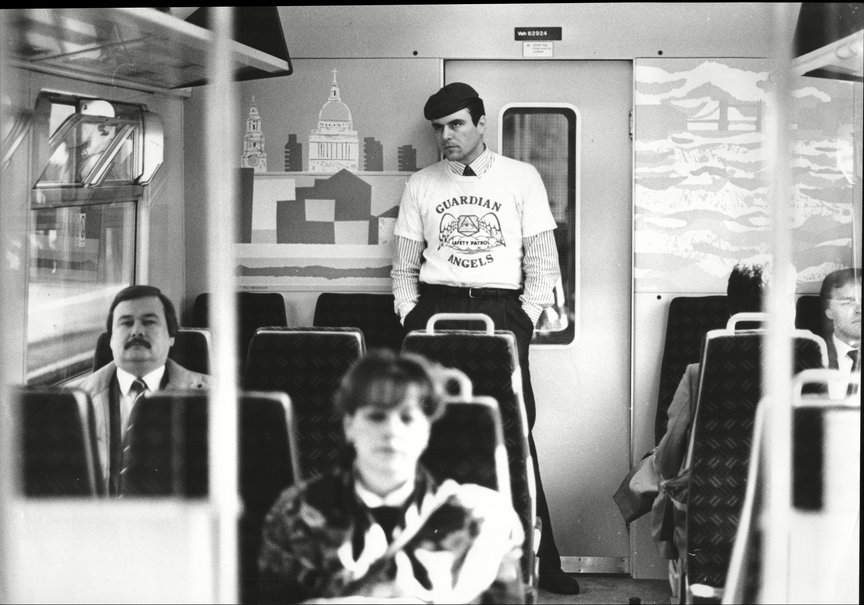 Curtis Sliwa on the London Underground in the late 1980s