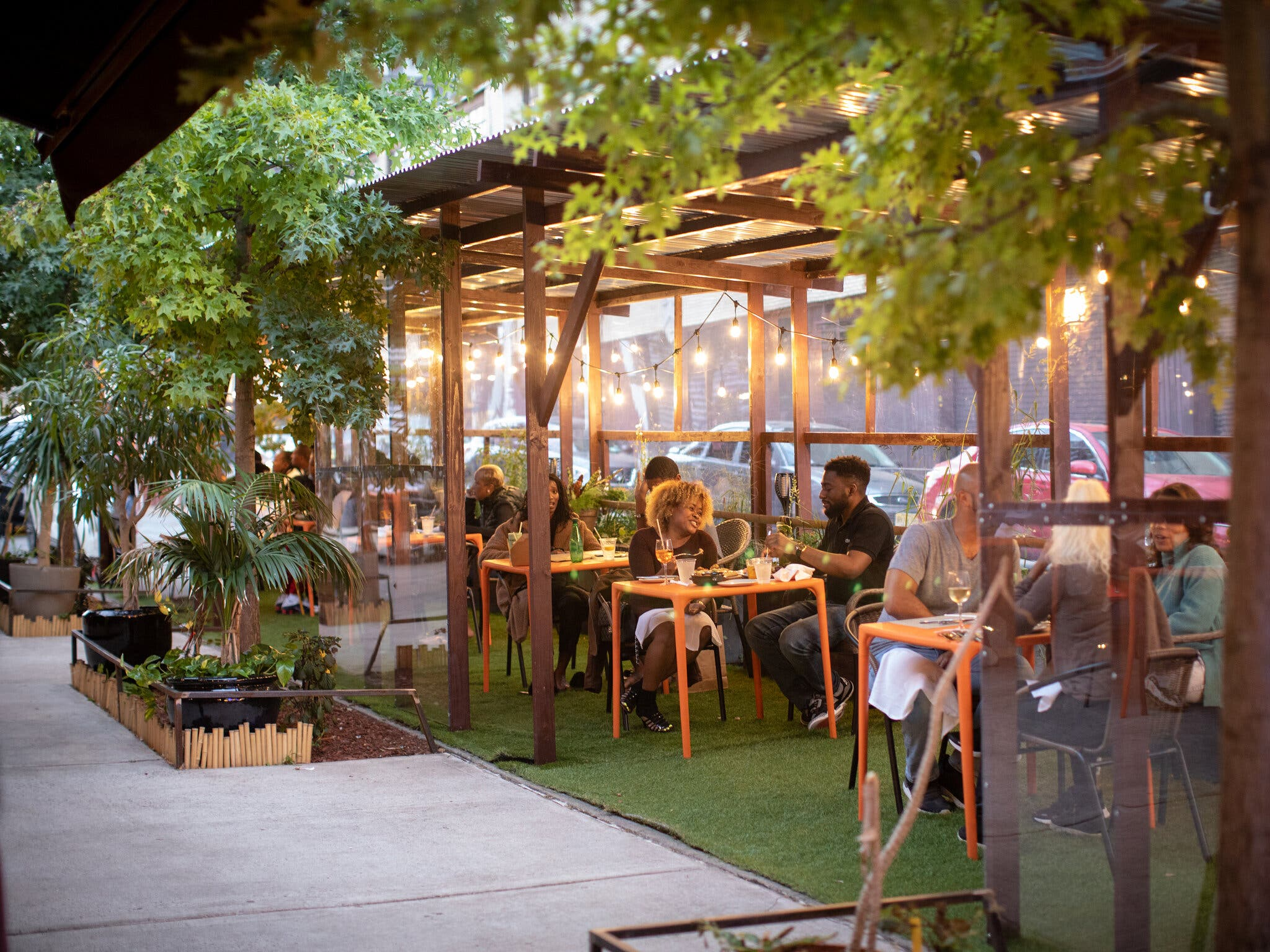 the outdoor dining structure at the restaurant Kokomo