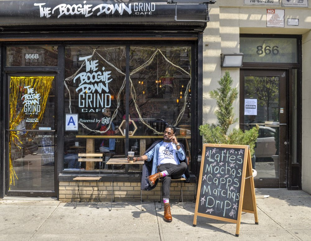 the exterior of Boogie Down Grind in the Bronx