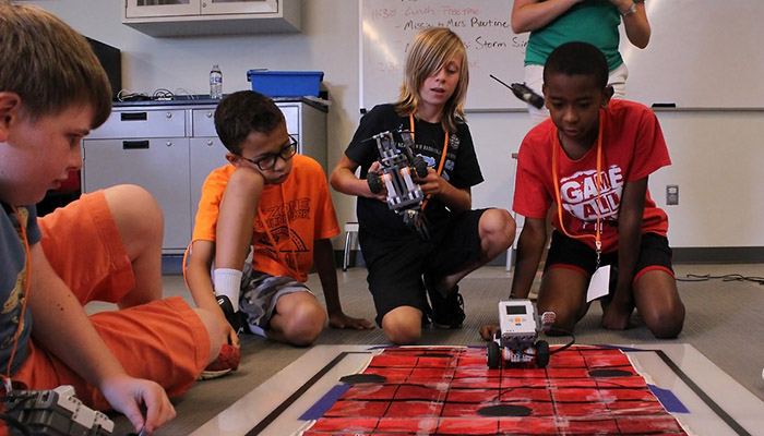 Multiple campers program robot