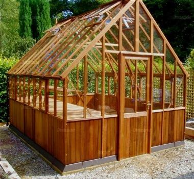 Large Cedar Victorian Greenhouse 599 Double Door