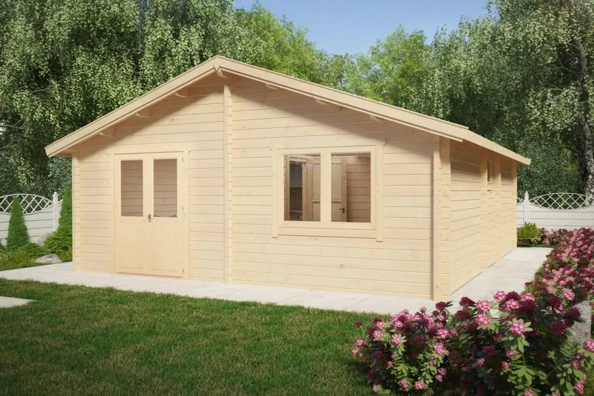 Two Bedroom Log Cabin Summer House Ireland 43m2 70mm 6
