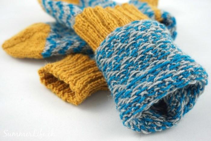 Wollsocken mehrfarbig Innenseite