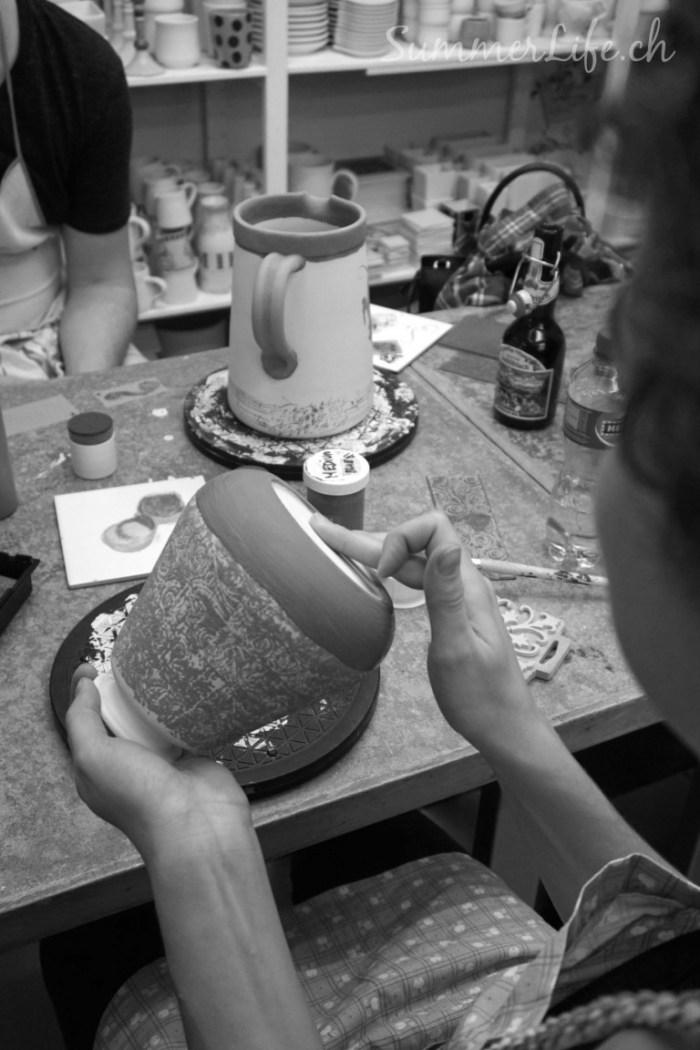 Keramikmalen Vase