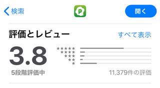 PICOのApp Store内評価