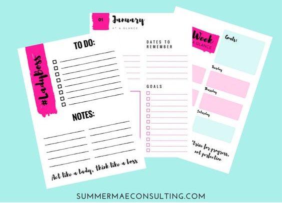 FREE Printable LadyBoss Planner