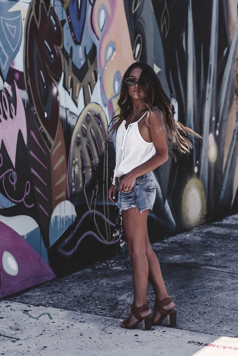 Summer of Diane Miami Blogger Boho Beach Style White and Denim