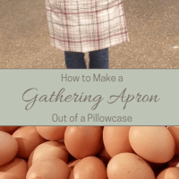 How to Make an Egg Gathering Apron from a Pillowcase