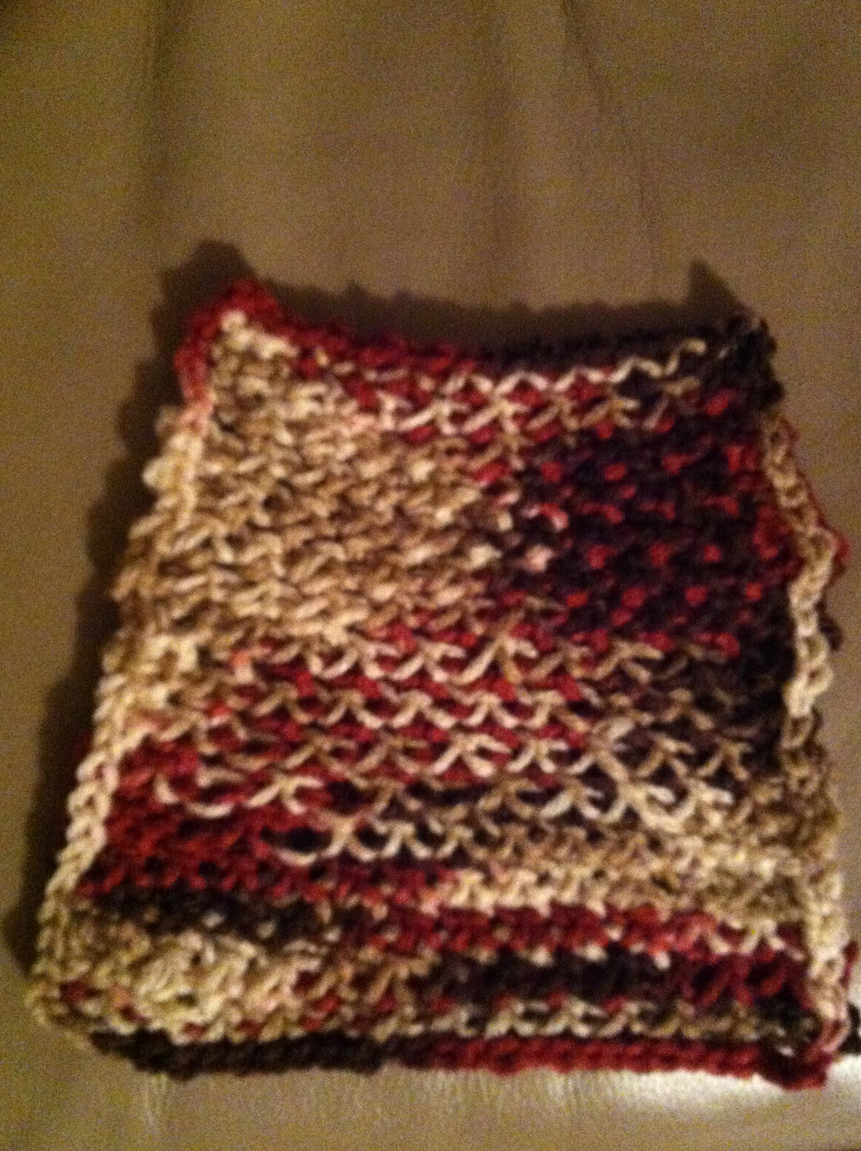 My quick beginner crochet dishcloth summers acres my second beginner crochet dishcloth bankloansurffo Gallery
