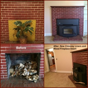 Office Fireplace Before and After