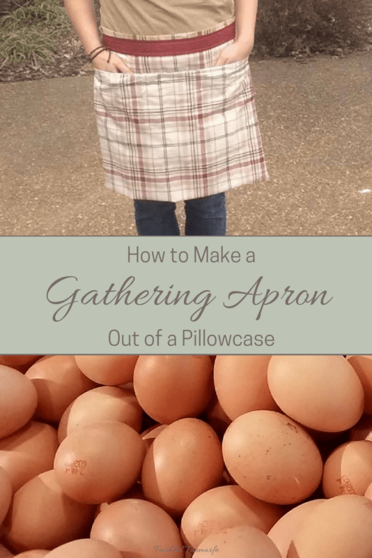 How to make an apron from a pillowcase without sewing