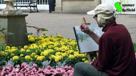 Drawing in the Botanical Gardens