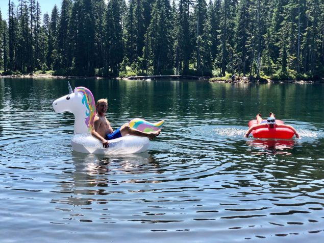 If you haven't packed floaties for a hike into a remote mountain lake, you really haven't lived.