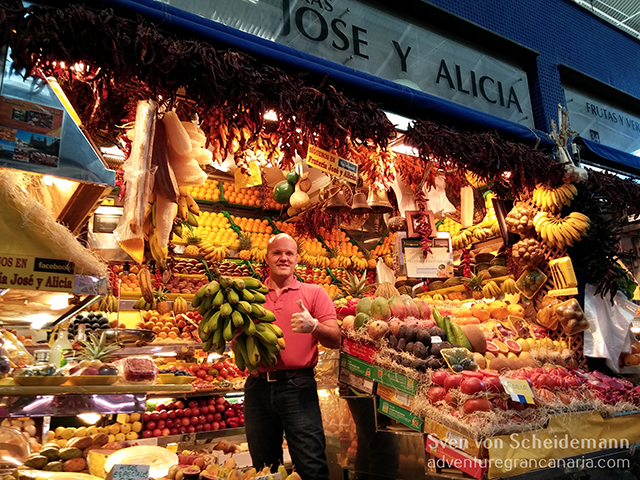 My favorite fruit stand inside the market is the one from Jose & Alicia