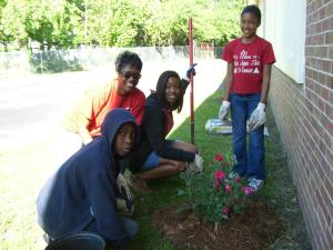 Alston Middle School Beautification Project 2011