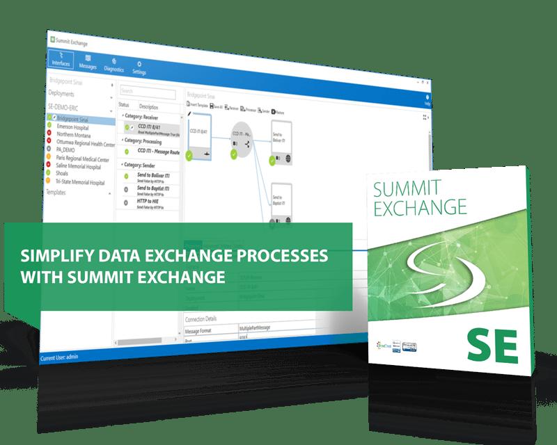 Summit Exchange interoperability healthcare engine