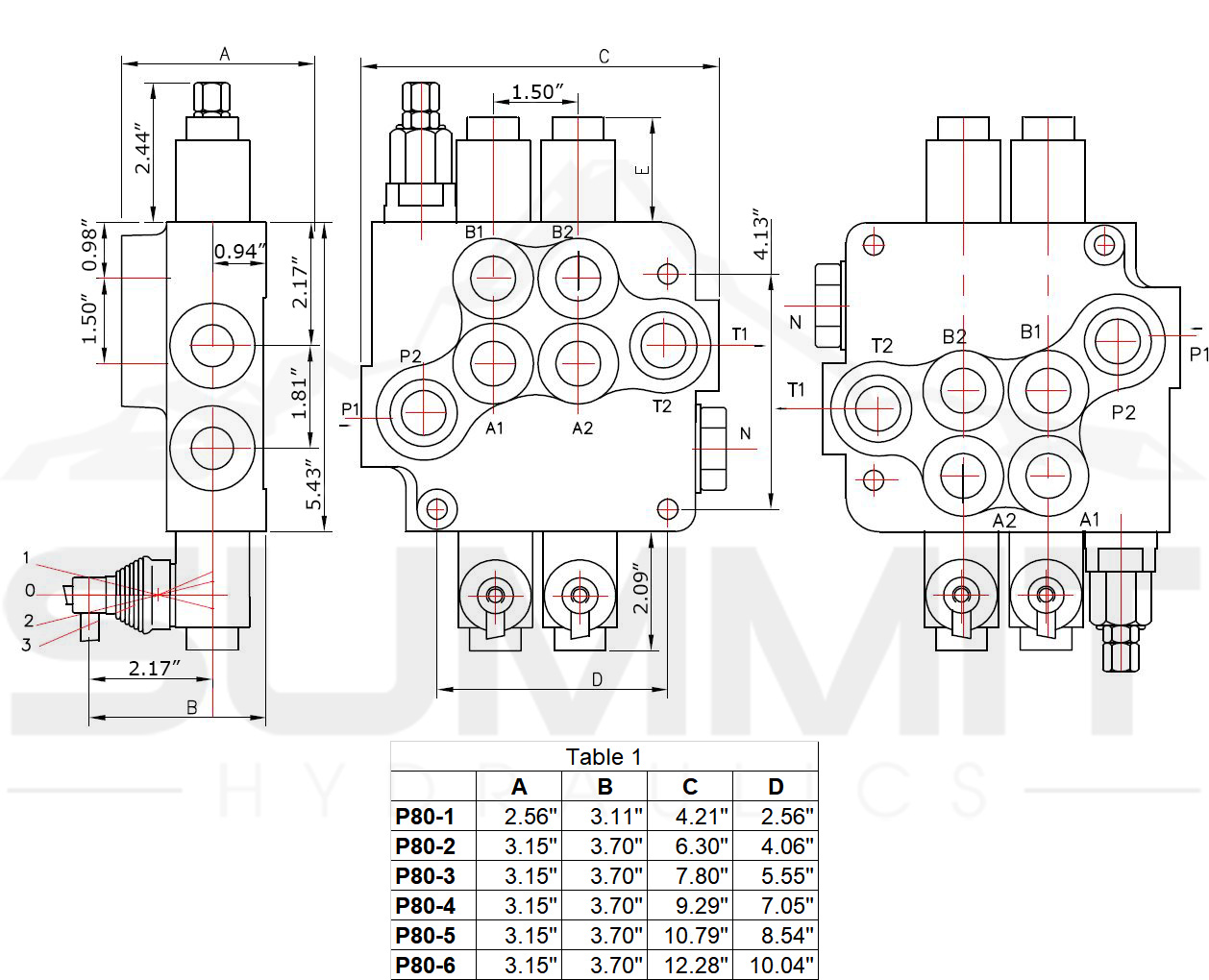 Hydraulic Directional Control Valve For Tractor Loader W Joystick 2 Spool 21 Gpm