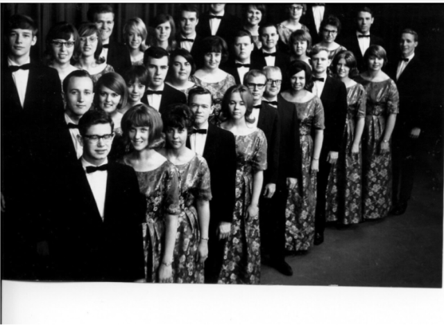 Rocky Mountain College's concert choir in 1966.