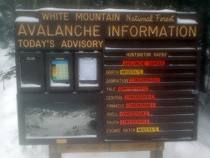 Considerable avalanche danger in Huntington Ravine