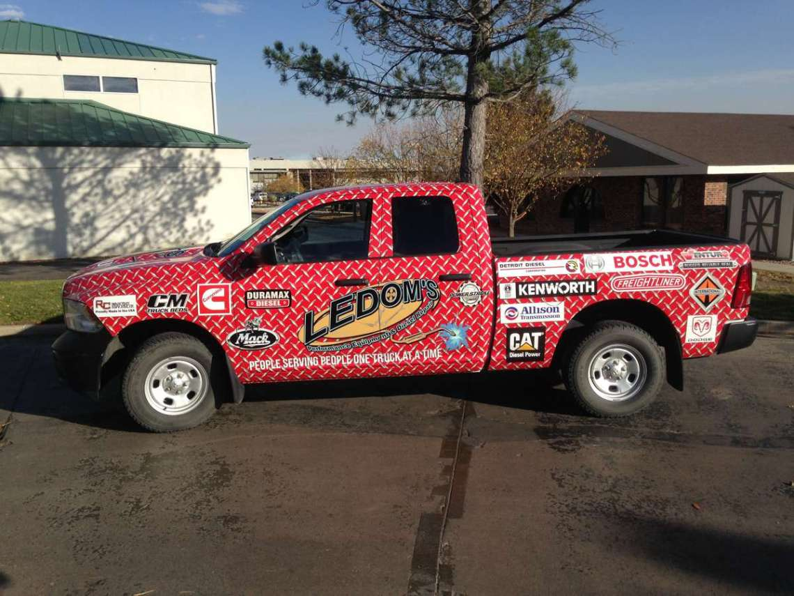 ledoms wrap complete - Vehicle Wraps near Western Forge