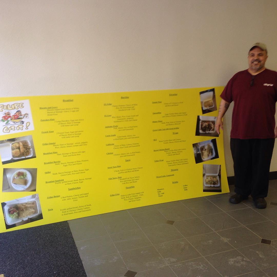 yellow menu board business sign - yellow-menu-board-business-sign
