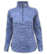 summit edge outerwear brand womens quarter zip jacket, blue, navy buttons, ultra soft fuzzy comfortable low price