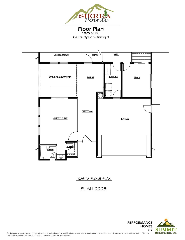 Sierra Pointe Plan Summit Homebuilders Inc