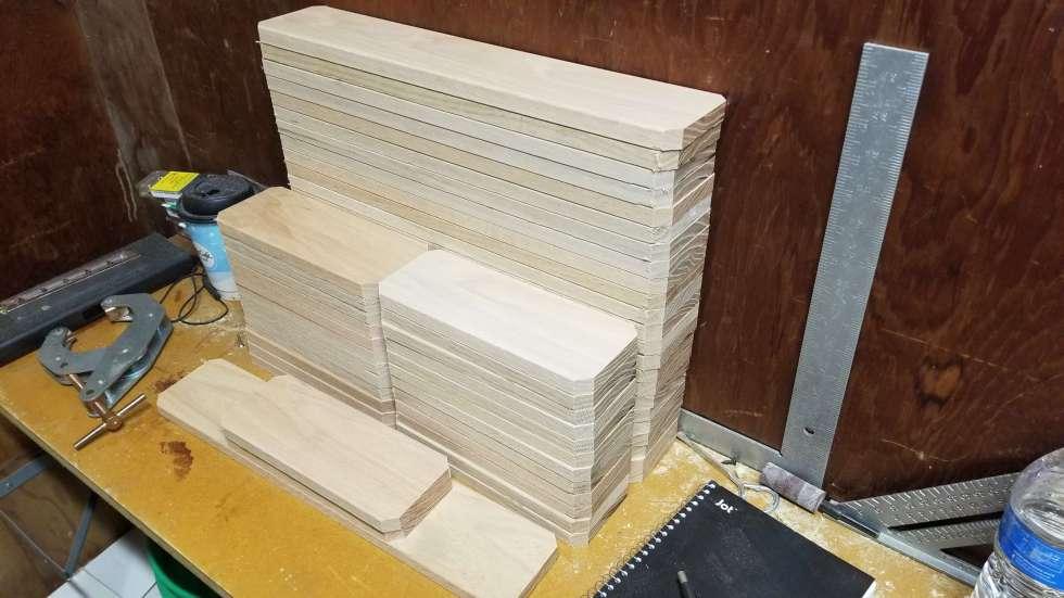 oak shelving blanks for summitier wine cup racks