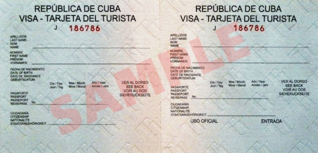 Cuban tourist visa
