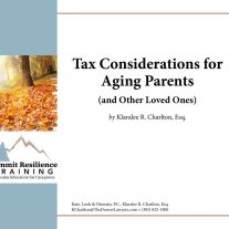 thumbnail of Tax Considerations for Aging Parents BUNDLE