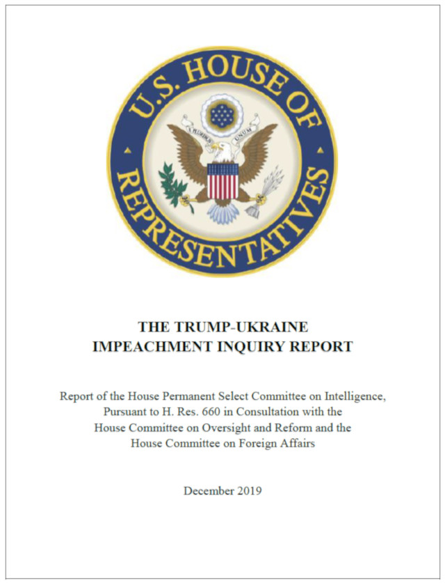 The Trump-Ukraine Impeachment Inquiry Report