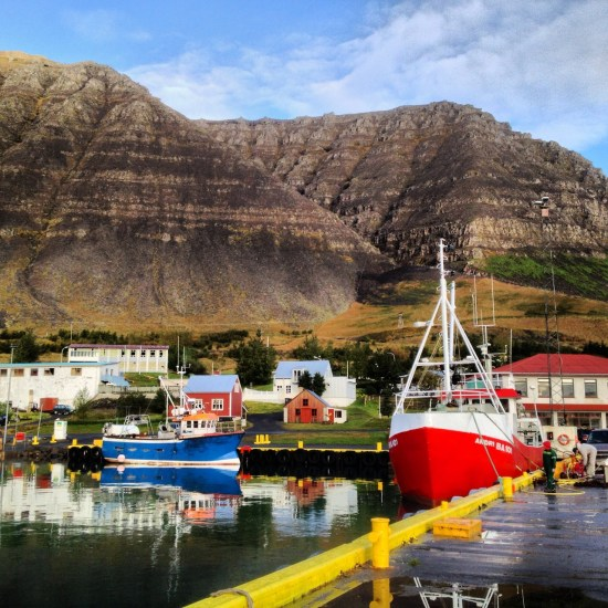 Harbor at Bildudalur, Iceland.