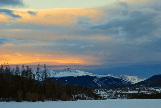 Wicked looking wave clouds stacking up over the Continental Divide in Summit County, Colorado. January 2014.