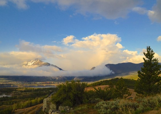 Spring storm clearing over the Tenmile Range.