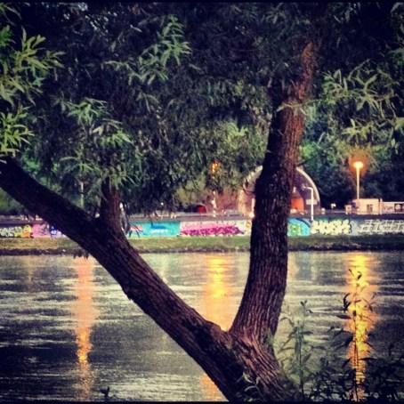 Riverside in Linz.