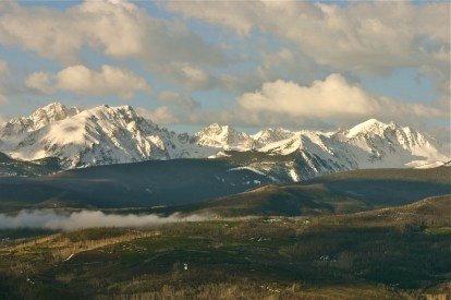 Spring storm clearing over the Gore Range.