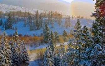 Blue River sunrise
