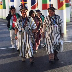Native Americans arrive at the COP 21 talks in Paris to present their concerns about global warming impacts on indigenous peoples.