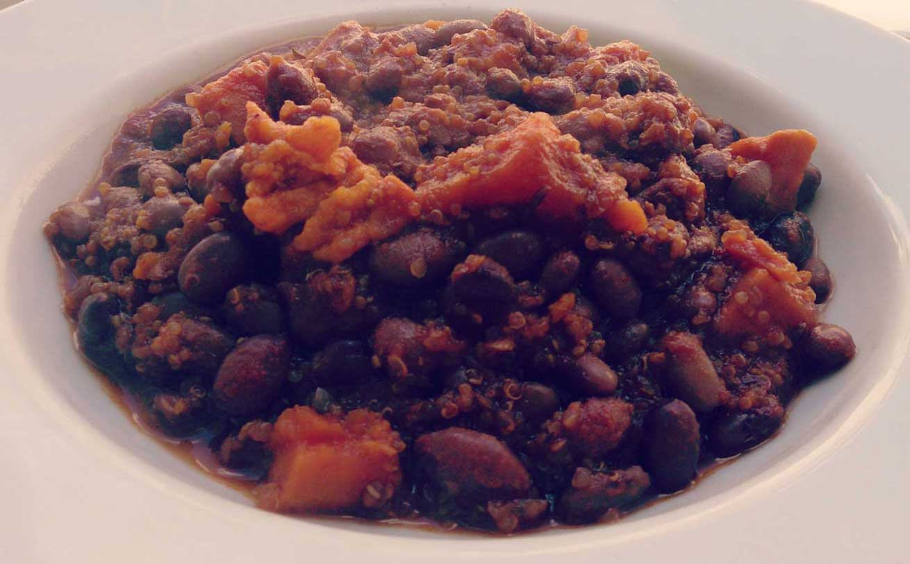 Quinoa with Sweet Potatoes & Black Beans