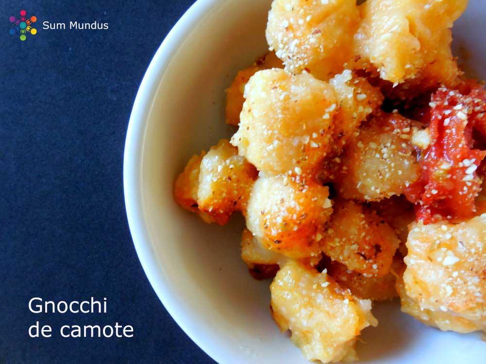 Gnocchi de Camote (vegan y sin gluten)