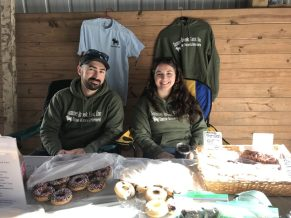 Marissa and Nick at the bake sale table