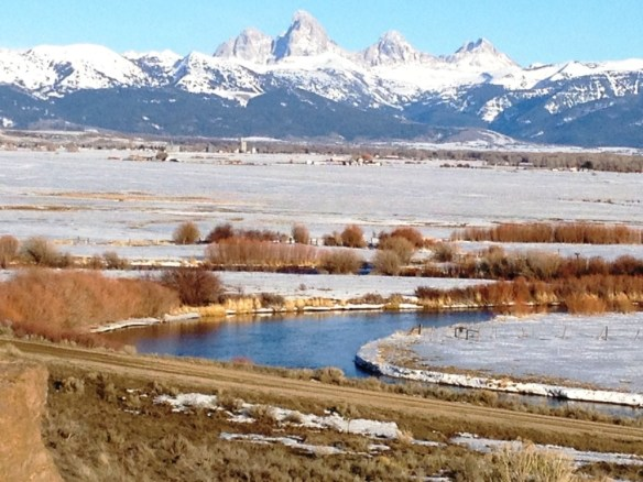 Grand Tetons as seen from Driggs, Idaho
