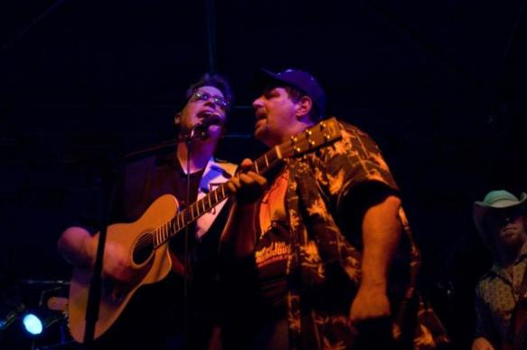 Singing on stage with Antsy McClain in 2007