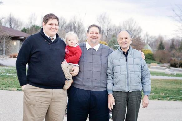 A Kravetz four generation photo - Seth, Rockwell, David, Joe - 2012