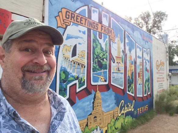 I had the opportunity to visit my cousin Lew in Austin, TX in June 2014.  This is the famous Welcome to Austin mural