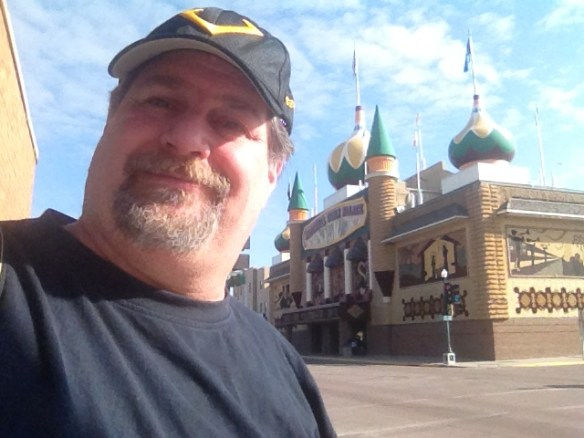 Being corny at the Corn Palace in Mitchell, SD in April 2013
