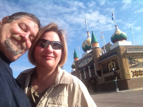 David and Julianne at Corn Palace in South Dakota in 2012
