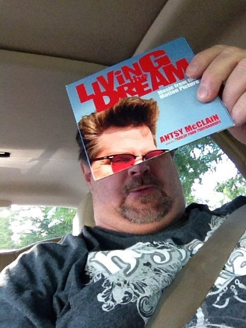 Juxtaposed Antsy's Living the Dream CD with my face in July 2012