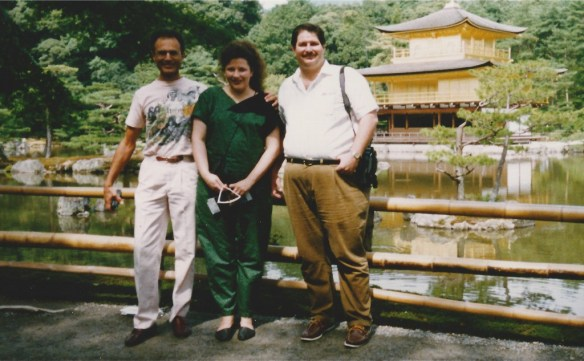 David and Julianne in Kyoto with David's father
