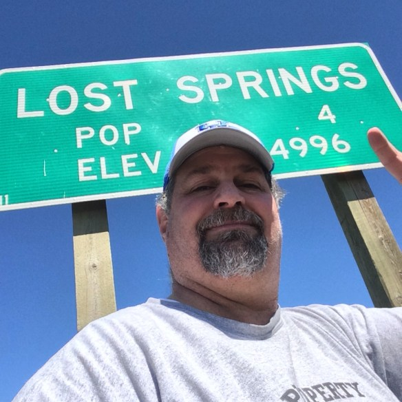 In Lost Springs, Wyoming (Population 4) in May 2014.